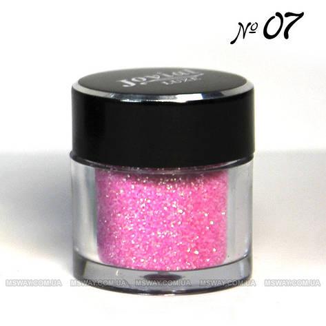 Jovial Luxe - Рассыпчатые блестки в баночке E-501 №07 (розовый), фото 2