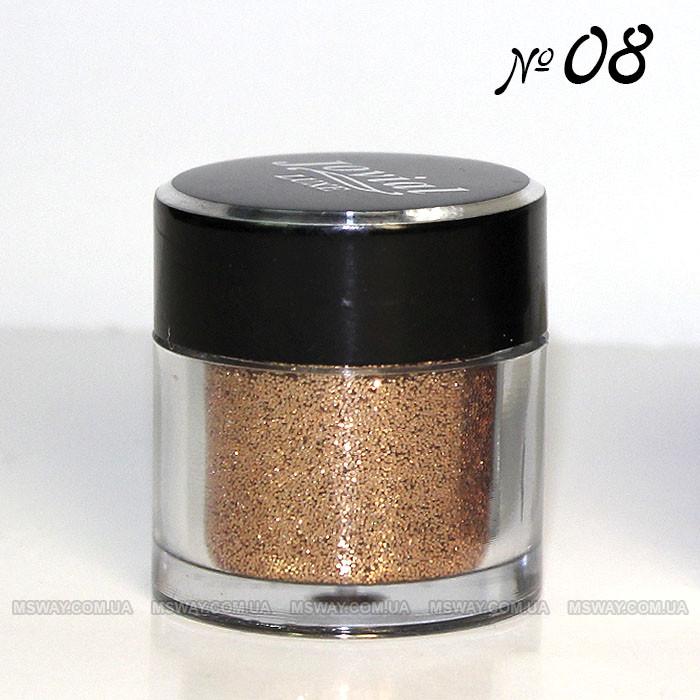 Jovial Luxe - Рассыпчатые блестки в баночке E-501 №08 (янтарный)
