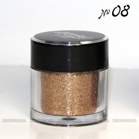 Jovial Luxe - Рассыпчатые блестки в баночке E-501 №08 (янтарный), фото 2