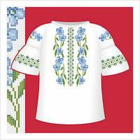 Схема вышивания сорочки для девочки с коротким рукавом СД2-001