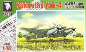 Сборная модель самолета  'ЯК-4'     1/48