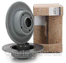 Комплект задніх не вентильованих дисків Renault Megane 2 седан, хетчбек (оригінал)
