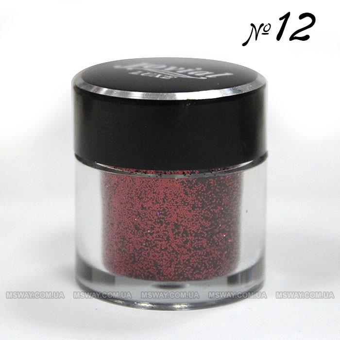 Jovial Luxe - Рассыпчатые блестки в баночке E-501 №12 (красный)