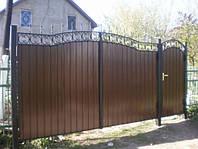 Изготовление и установка ворот из металлопрофиля Херсон