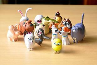 Игрушки тайная жизнь домашних животных , 14 шт