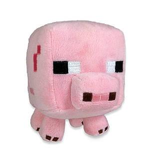 Мягкая игрушка Minecraft «Поросенок»  Baby Pig 16 см