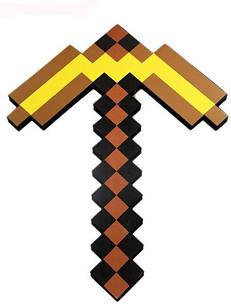 Золотая кирка Майнкрафт Minecraft Оригинал