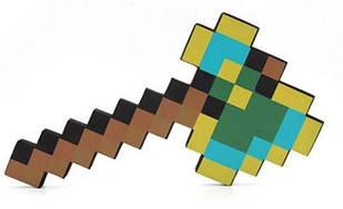 Алмазно-золотой топор Майнкрафт  (Minecraft) Оригинал