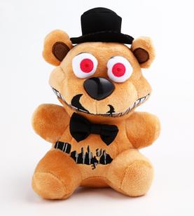 Мягкая плюшевая игрушка 5 ночей с Фредди,кошмарный Фредди Freddy 22 см, Аниматроники, ФНАФ
