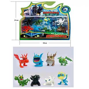 """Набір іграшок з мультфільму """" Як приручити дракона 3 Dragons"""