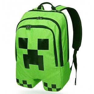Школьный городской рюкзак Майнкрафт (Minecraft) Крипер для детей
