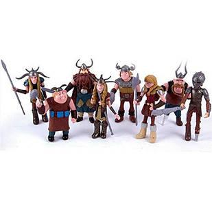 """Набір іграшок Вікінги з мультфільму """" Як приручити дракона 3 Dragons"""