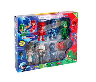 Pj Masks -  Герои в масках игрушки + подарочная коробка, 6 штук