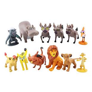 Наклейка фигурок Король Лев (The Lion King) - 12 шт