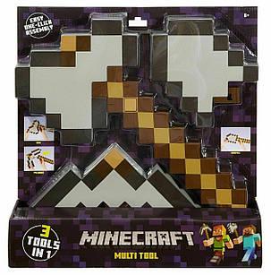 Набор 3 в 1 (Кирка / Лопата / Топор) Майнкрафт Minecraft 34 см Оригинал