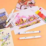 Набір скетч маркерів 24 шт для малювання двосторонні професійні спиртові білі, фото 8
