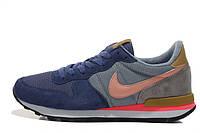 Женские кроссовки Nike Internationalist blue-grey