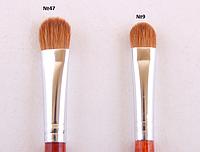 Профессиональная кисть для нанесения теней, плоская, соболь №9. 12мм 9 PAL /0-64