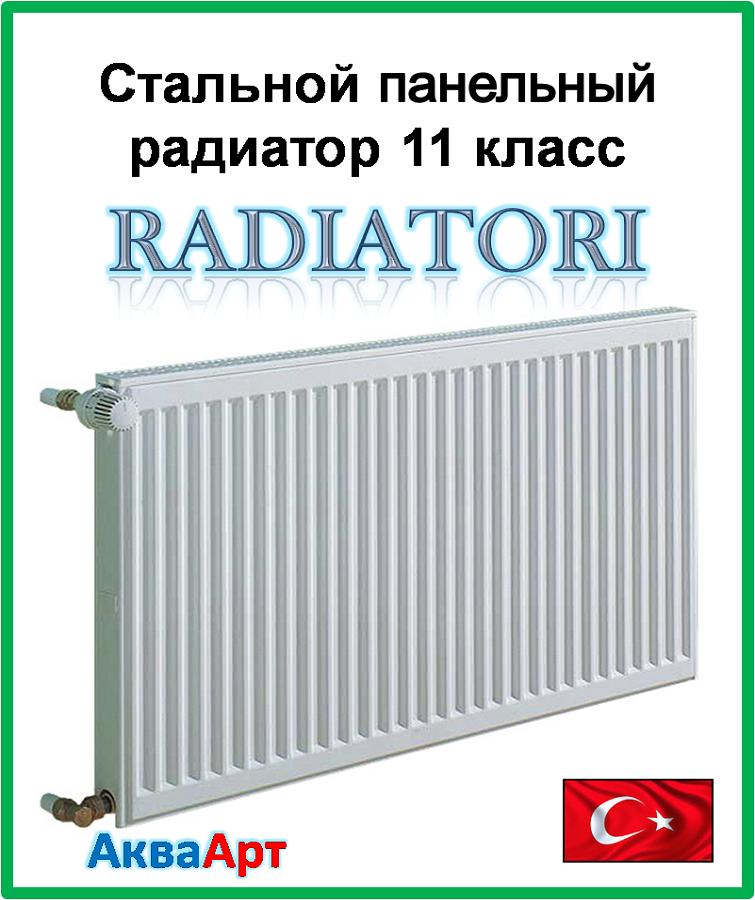 Стальной радиатор Raditori 11k 500*500 боковое подключение