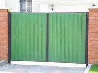 Ворота к дому из металлопрофиля Херсон