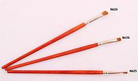 Профессиональная кисть для нанесения теней, плоская, соболь, №25 6 мм 25 PAL /0-61