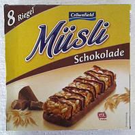 Батончики мюсли со вкусом шоколада Musli Schokolade  200г 8 шт