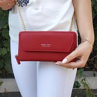 Жіночий гаманець клатч Wallerry червоний SKL11-310844