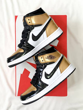 Air Jordan Retro High Gold Toe, фото 2