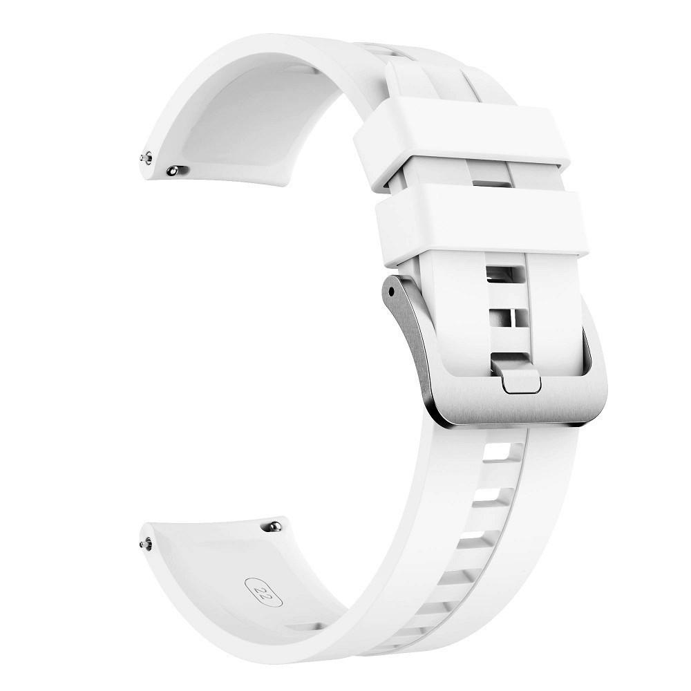 Ремешок для часов Silicone bracelet Universal Type D, 22 мм. White