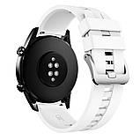 Ремешок для часов Silicone bracelet Universal Type D, 22 мм. White, фото 3