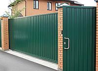 Ворота металлические для автоматической раздвижной системы Херсон
