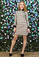 Офисное платье, в мелкий квадрат,свободного стиля