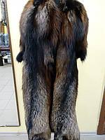 Мех шкуры финской чернобурки выделанные, цвет коричнево-черный с серебристым кончиком, 80 см полезная длина