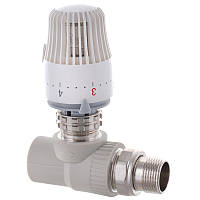 Кран термостатический с термоголовкой прямой PPR 25x3/4 KOER K0156.PRO (KP0199)