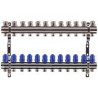 """Колекторний блок з термостатичними клапанами KOER KR.1100-12 1""""x12 WAYS (KR2638)"""
