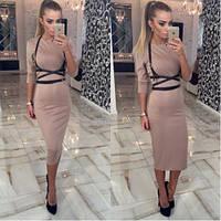 Женское Платье + портупея 4 цвета, фото 1