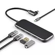 USB-хаб Baseus Multi-functional Type-C to 4 USB3.0 CAHUB-EZ0G (Чорний), фото 2