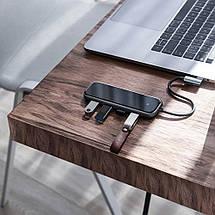 USB-хаб Baseus Multi-functional Type-C to 4 USB3.0 CAHUB-EZ0G (Чорний), фото 3