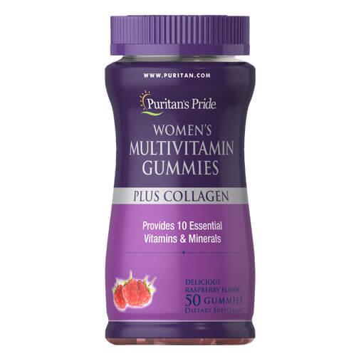 Мультивитамины для женщин + коллаген, Puritan's Pride Women's Multivitamin Gummies Plus Collagen 50 Gummies