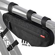 Сумка велосипедная West Biking 0707230 2L под раму Black, фото 3