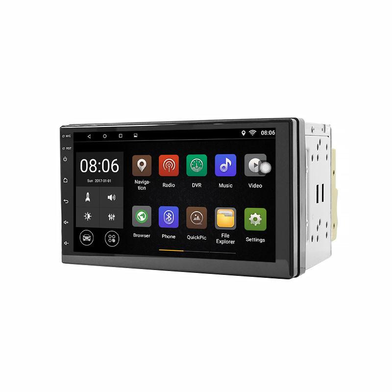 """Автомобільна магнітола 2DIN Lesko 5001A сенсор 7"""" пам'ять 2/32 Gb microSD GPS навігація Android"""