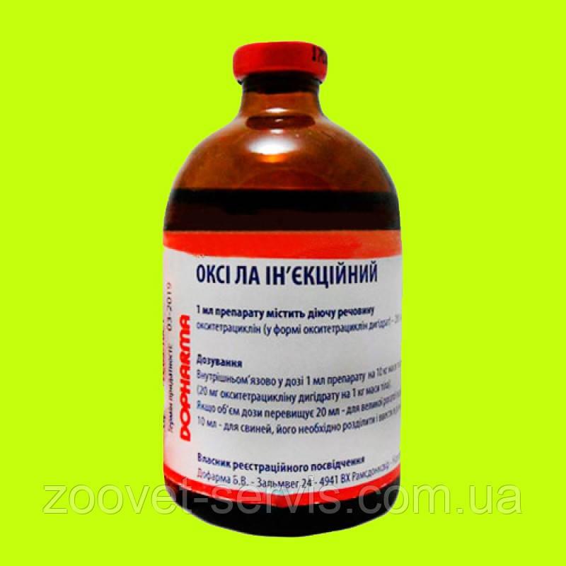 Пролонгований ін'єкційний антибіотик окситетрациклін Оксі ЛА 100мл Дофарма Б В