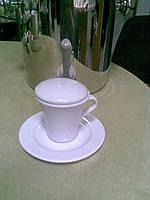 Чашка/блюдце Elegant для кофе 80мл Tognana_( крышка отдельно)