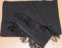 Шарф вязанный черный