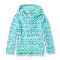 Флисовый пуловер The Children's Place для девочки; 5-6 лет