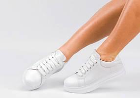 Кроссовки женские кожаные белые Размеры 36-41