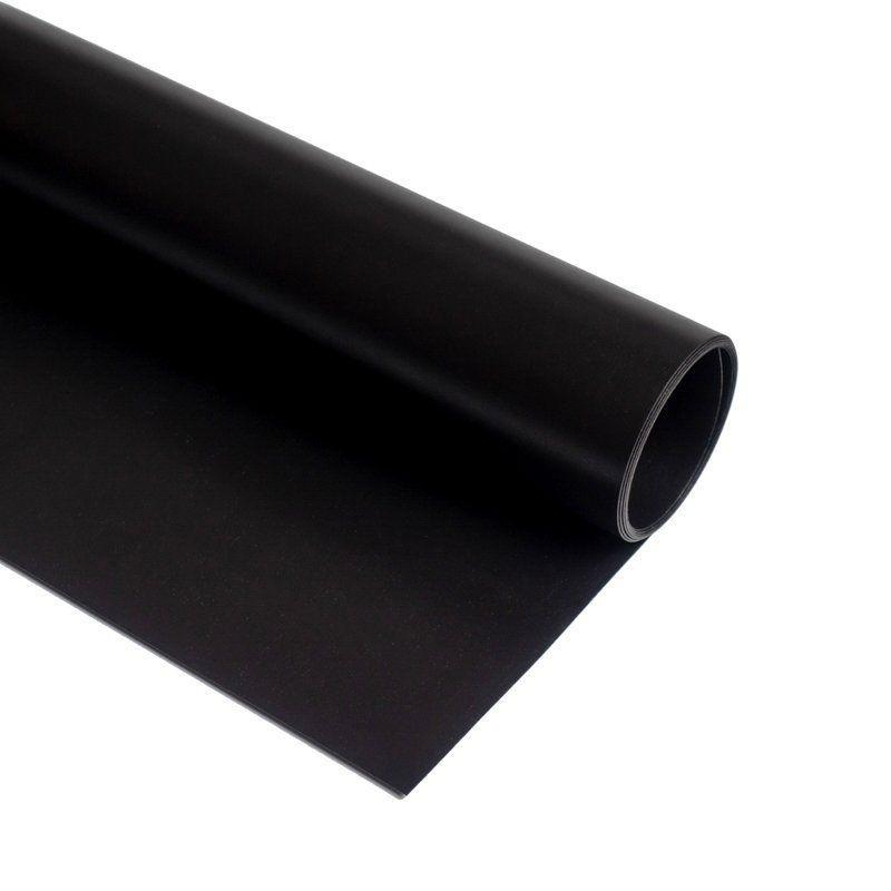 Фон вініловий матовий для предметної зйомки Чорний 0.68×130 см ПВХ