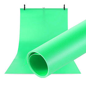 Фотофон виниловый (фон для фото предметной съемки, Зеленый 120×200 см, ПВХ)