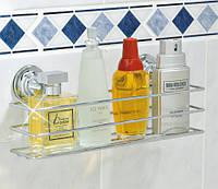 Полка для ванной 30x10x12 см на вакуумных присосках Еверлок