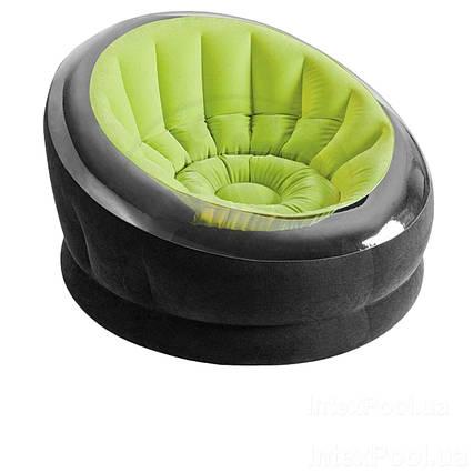 Надувне крісло Intex 68582, 112 х 109 х 69 см, зелене